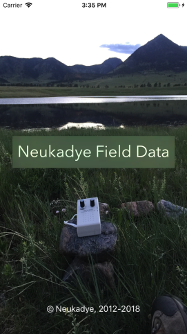 Field-Data-Launch-Screen