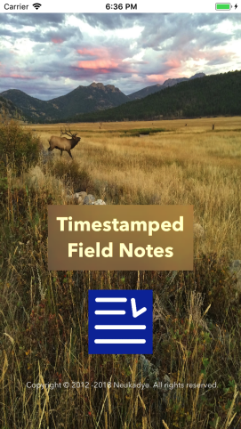 Field-Notes-Launch-screen